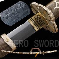 Tachi Sword, Handmade Folded Steel Full Tang Japanese Katana Samurai Sword,Sharp
