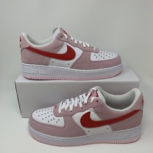 Nike Air Force 1 Low '07 QS 'Valentine's Day Love Letter DD3384-600 Mens Size
