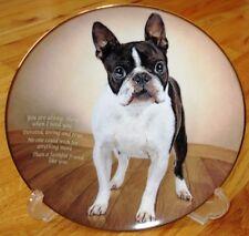 Danbury Mint Boston Terrier FAITHFUL FRIEND Plate