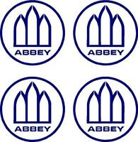 4 X ABBEY WHEEL CARAVAN/MOTORHOME  DECALS STICKERS CHOICE OF COLOURS FAST POST
