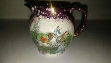 Gray's Pottery Vintage Cream Pitcher Copper Purple Lustre Stoke-On-Trent-England