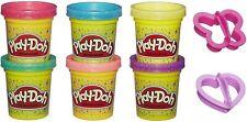 6 Pots Pate à modeler Paillettes 2 Accessoires - Play Doh - Enfants