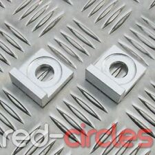 SILVER 12mm SQUARE BLOCK PIT BIKE CHAIN PULLERS / TENSIONERS fits 125cc 140cc