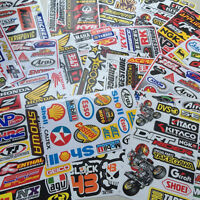 4 Mixed Sheets SET Random Stickers Decal  Motorcycle Car ATV Racing Bike Helmet