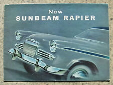 SUNBEAM RAPIER Car Sales Brochure 1958 #558/H