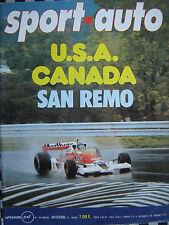 revue SPORT AUTO 1977 LONDRES-SYDNEY / SAN REMO / GRAND PRIX F1 n° 190