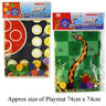 Giant Ludo and Snakes & Ladders Game Traditional Family Play Mat Games Gift