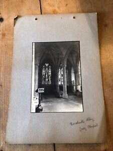 ANTIQUE/VINTAGE PHOTO OF LADY CHAPEL AT DORCHESTER ABBEY (ENGLAND) A4-SIZED