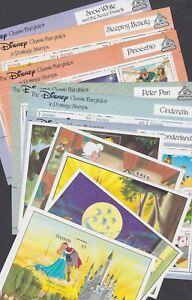 Grenada 1987 Used FU 12 Minisheets Alice Disney Cinderella Peter Pan Pinocchio