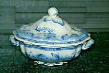 Antique Furnivals Quail Lidded Serving Tureen Blue/White Tableware Kitchenalia