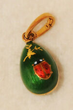 Authentic Faberge 18K Solid Gold Enamel Egg Pendant by Victor Mayer #173/500