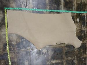 Cowhide leather skin hide skin beige 20x30in 1.6mm 4oz #172