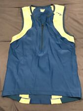 Zoot Women's Cycle Jersey Blue White Small S 1/2 Zip Athletic Exercise Top Sc9