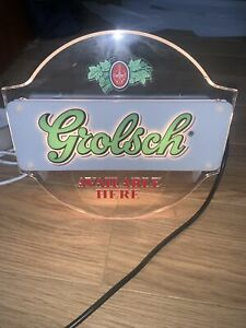 Grolsch Light Up Sign Beer Advertising Man Cave Pub Home Bar Wall Mountable