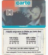 CC1D...CARTE CINEMA...REPIQUAGE CHALON S. SAONE (RARE !)..SC7...SERIE N°2...LUXE