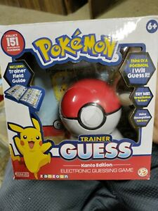 Pokemon Trainer Guess Kanto Edition Electronic Ball Game w/ Stand & Field Guide