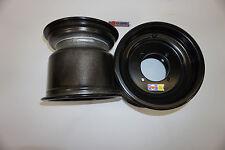 "DWT Black Rolled Lip ATV Rear Wheel PAIR 9"" 9x8 4/110 Suzuki LTR450 XC Narrower"