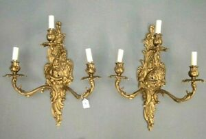 Nice Pair 19th C Rococo Sconces Make Offer!