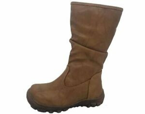 Girls Boots ProActive Avis Tan Zip up flat boot Size 8