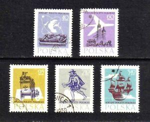 Poland 1958 Polish Postal Service complete set of 5 values (SG 1063-1067) used