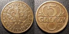 Pologne - République - 5 Groszy laiton 1923 - Y#10