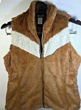 PATAGONIA Plush Teddy Bear Fur Vest Brown Full Zip Women's Small