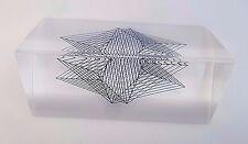 Vintage 3D Op Art Optical Kinetic Lucite Acrylic Sculpture Enzo Mari ? 5962