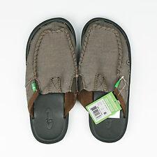 Sanuk Size US8 Men's You Got My Back II Loafer Slip Shoes Army Green