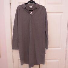 NWT LACOSTE  Pique Mist Gray Long Sleeve Sweatshirt W/Pockets Dress SIZE 40 US 8