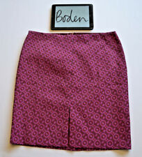 BODEN NEW Pink Purple Pattern A Line Straight Lined Skirt Sz. 20R W40 L24