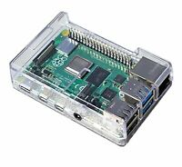 SB Case for Raspberry Pi 4 Case Protective Raspberry Pi 4 Case Enclosure - Clear