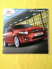 Kia Pro Cee'd official paper brochure sales catalogue June 2009 MINT Ceed