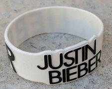Vintage BELIEBER Authentic JUSTIN BIEBER Rubber Silicone Wristband Bracelet Rare
