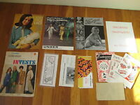 1940-60s vtg sewing book LOT pattern baby knit Alice Brooks Pack o Fun Christmas