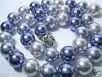 """New Fashion 10mm Genuine Multicolor South Sea Shell Pearl Necklace 18""""AAA"""