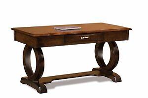 "54"" Amish Contemporary Saratoga Writing Secretary Desk Home Office Solid Wood"