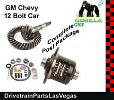 GM 8.875 Chevy 12 Bolt Car 3.73 Ring and Pinion Posi Gear Kit Pkg Gorilla Grip