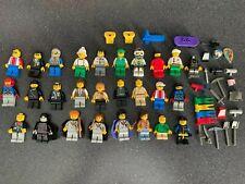 Vintage LEGO minifigures lot including old Harry Potter, samurai, weapons & more