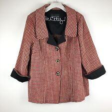 Dara Lamb Bespoke Jacket 3 Button Red Gold Coat Beautiful New York Designer A17