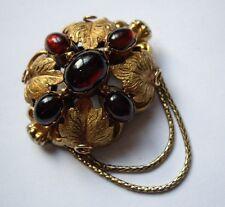 Antique Victorian Gold Garnet 18ct 18k Garnet Cabachon Brooch Pin