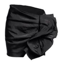 NEW WITH TAG! LANVIN pour x H&M black ruffle SKIRT. Size L US 10/12 EUR 40/42