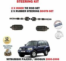 FOR MITSUBISHI SHOGUN PAJERO 2000-> 2x INNER TIE RACK END ROD + RUBBER BOOTS SET