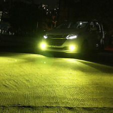 2X 4300K Yellow H11 H8 Fog Light 2323 LED 100W Driving Projector DRL Bulbs Lamps