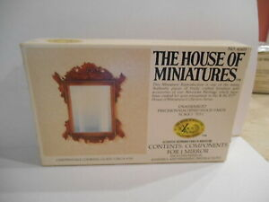 HOUSE OF MINIATURES FURNITURE KIT CHIPPENDALE LOOKING GLASS MIRROR VINTAGE 1980