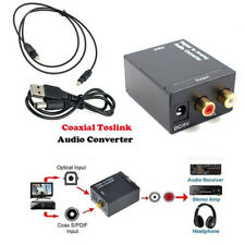 Optical Toslink Digital To Analog Audio Converter Coaxial Cable RCA L/R Adapter