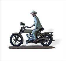 LEAD SOLDIERS MOTORCYCLE - Dutch colonial troops, MOTOSACOCHE - SMI040