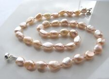 """16.5""""  Pink Genuine Freshwater Cultured Pearl Necklace"""