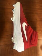 Nike Alpha Huarache Elite 2 AJ6874-601 Baseball Cleats Red & White Size 12 New