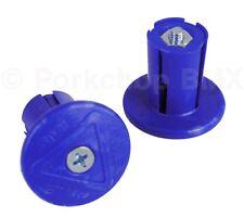 AME old school BMX Grip Savers handlebar bar ends (PAIR) *MADE IN USA* DARK BLUE