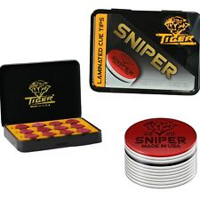 Tiger Sniper Laminated Pool Cue Tips Tiger QTY 12 - FREE SHIPPING 002011